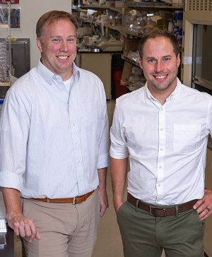 From left: Edward C Stites and Thomas McFall (Credit: Salk Institute)