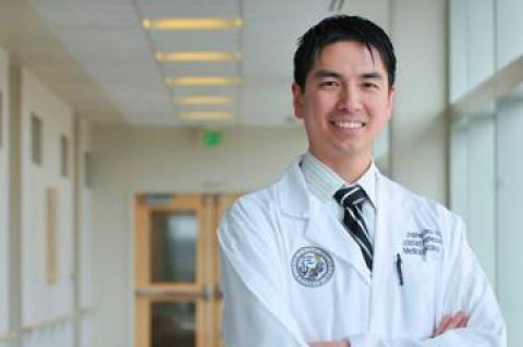 Dr Christoper Lieu and colleagues show increased survival with addition of vemurafenib to common therapy for metastatic colorectal cancer. Credit: University of Colorado Cancer Center